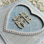 man&wife - kartka ślubna w błękicie