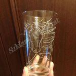 Ręcznie grawerowana szklanka