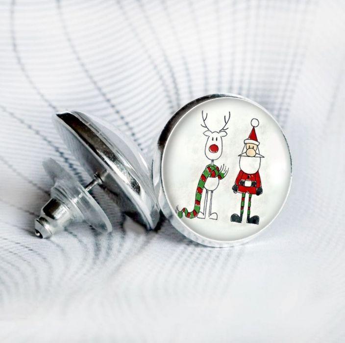 Kolczyki z Mikołajem