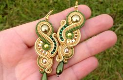 Kolczyki Green & Gold z perłą SEA SHELL