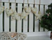 Zestaw świąteczny 7 częściowy w złote gwiazdki