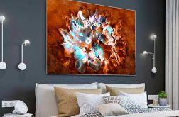Obraz Magnolie na brązowym tle 120 x 80
