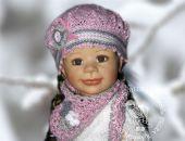 beret/czapeczka z chustką Dori