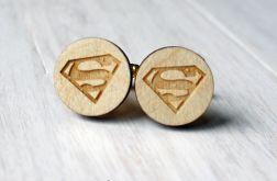 Drewniane spinki do mankietów SUPERMAN