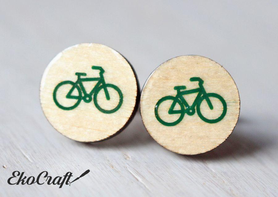 Drewniane spinki do mankietów ROWER Color
