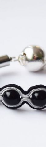 Bransoletka czarno-biała z onyksem