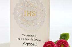 Zaproszenia na Pierwszą Komunię Świętą IHS