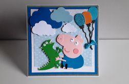 Kartka na Urodziny Świnka Peppa George