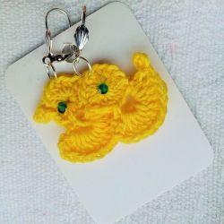 Kolczyki żółte kurczątka
