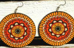 Kolczyki hippie, żółto-pomarańczowe