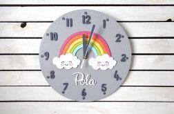 Zegar dla dziecka z tęczą i imieniem