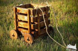 rustykalna skrzynka wózek na piwo