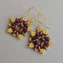 Rozetki purple iris & starlight