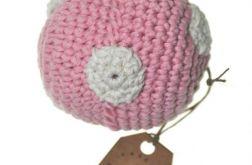 Piłeczka Kropeczka - grzechotka różowa