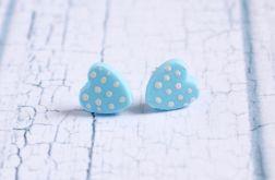 Błękitne serduszka - sztyfty