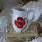 Zestaw malowany 15 elementów do kawy MAKI - mlecznik 500ml