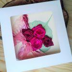 Kartka  z różami - kartki z kwiatami
