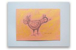 Ptaszek nr 9 - rysunek dekoracyjny do domu