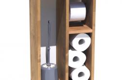 Stojak na papier toaletowy szczotkę z drewna