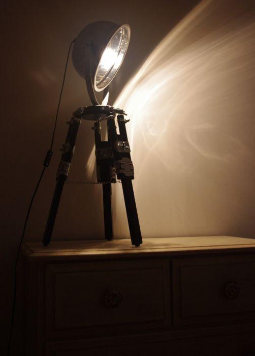 Lampka biurkowa, Lampka nocna LOFT TRIPOD BLACK