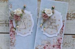 Kartka na ślub z pudełkiem - zestaw 4