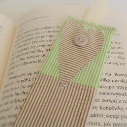 Zakładka do książki serce w paski