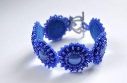 Bransoletka niebieska z koralików