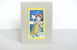 Kartka świąteczna-aniołek-nr 9
