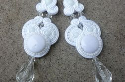 White and crystal soutache