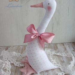 Gąska wiosenna Wielkanoc różowe kropki GOTOWA