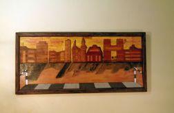 "obraz malowano - wypalany ""City from above"""