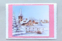 Kartka świąteczna - zimowy pejzażyk