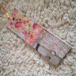 Zakładka do książki z pismem o kwiatami - Handmade zakładka do książki