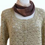 Sweterek rozpinany w kolorze zimnego beżu ;o)