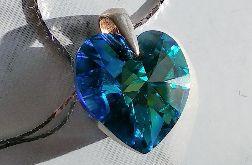 Srebro 925 i serce z kryształu