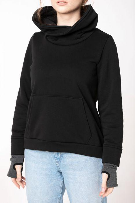 Bluza damska bez zamka - bawełniana bluza