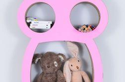 Półka na książki zabawki SOWA | różowy