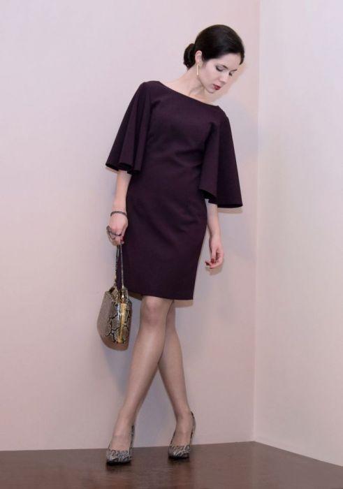 34170a6469 Koktajlowa sukienka   fioletowa – ADELINE - RAHRI