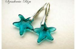 Kolczyki Swarovski Starfish Indicolite
