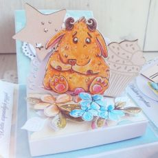 Exploding box urodzinowy z potworkami GOTOWY