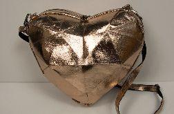 Torebka serce origami washpapa wegańska skóra