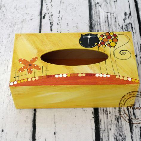 pudełko na chusteczki  z kotkiem