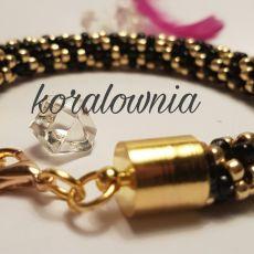 Czerń i złoto - bransoletka