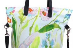 Torebka damska torba worek kwiaty długie
