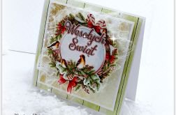 Kartka świąteczna Wianek z Ptaszkiem