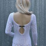 Białe cudo-sukienka z wycięciem na plecach