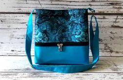 Niebieska torebka w motyle