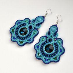Kolczyki niebiesko-turkusowe 3