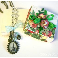 Naszyjnik I love Paris+ pudełko gratis