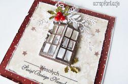 Kartka Świąteczna z oknem 01